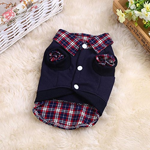 - TTbuy Modern Pups Gingham Classic Cotton Shirt Dog Cat Puppy Shirt Puppy Winter Warm Clothes Plaid Sweater Costume Jacket Coat Outfits Dog Apparel Clothing (XL, Black)