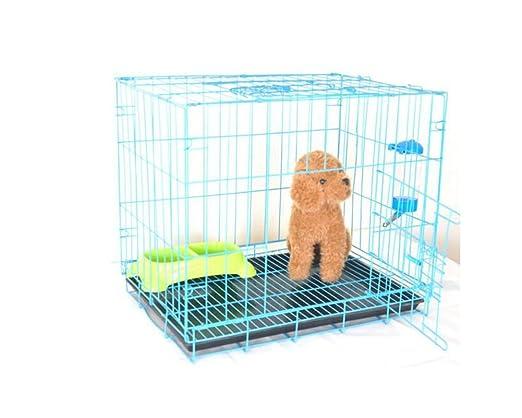 ZSSHJ Jaulas para perros, perros pequeños Teddy Kennel Jaula de ...