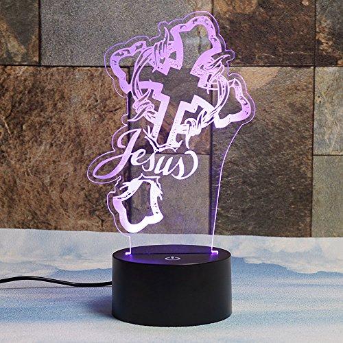 Christ Jesus 3D Night Light Table Desk Lamps for Christma...