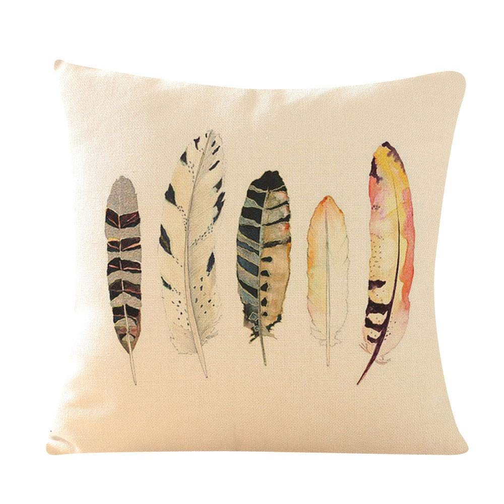 NPRADLA Feather Sofa Bed Home Decoration Pillow Case Cushion ...