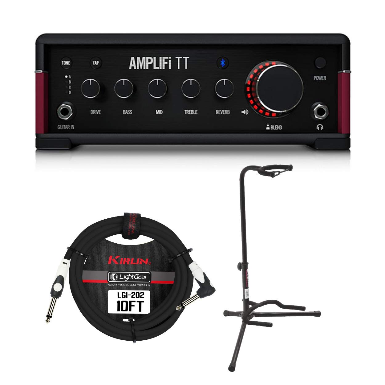 Line 6 AMPLIFi TT Desktop Guitar Effects Processor Bundle with Guitar Cable and Stand