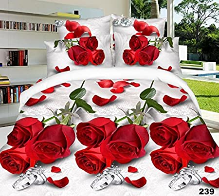 239 With Duvet Cover,Pillow Cases /& Fitted Sheet 3D Effect Bedding Complete Set