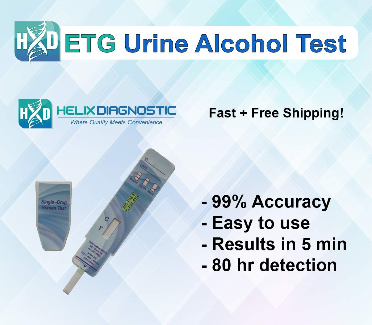 ETG Urine Alcohol Test - at Home Alcohol Urine Dip Detects 80 hrs (5Pack)  New Product Launch Sale
