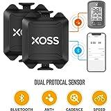 XOSS Cadencia/Velocidad Sensor para la computadora de la Bici teléfono Inteligente Bluetooth/Ant + Modo Dual Ciclismo…