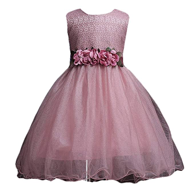 69505d693c5788 Si Rosa by Hopscotch Girl s Cotton Sleeveless Dress (Pink