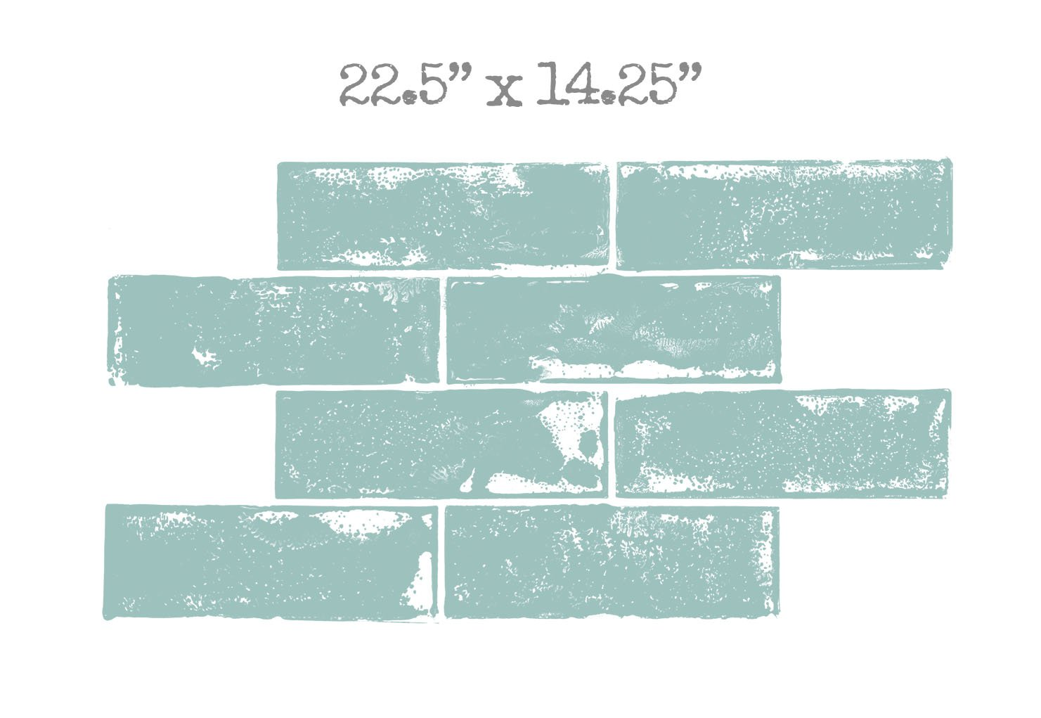 The Original Wall Stamp Designer Painting Template | BRICK 15 x 23 ...