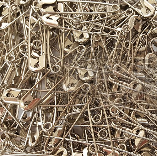 """NiftyPlaza Extra Large 2"""" Safety Pins - Heavy Duty, Industrial Strength, Nickel Plated, Rust Resistant (100 Safety Pins)"""