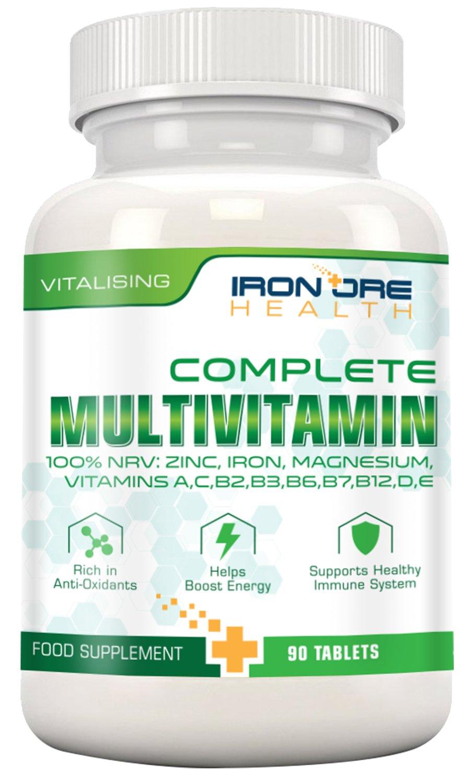 Complete Multivitamin- El mejor complejo vitamínico diario para una salud robusta – Vitalidad, refuerzo