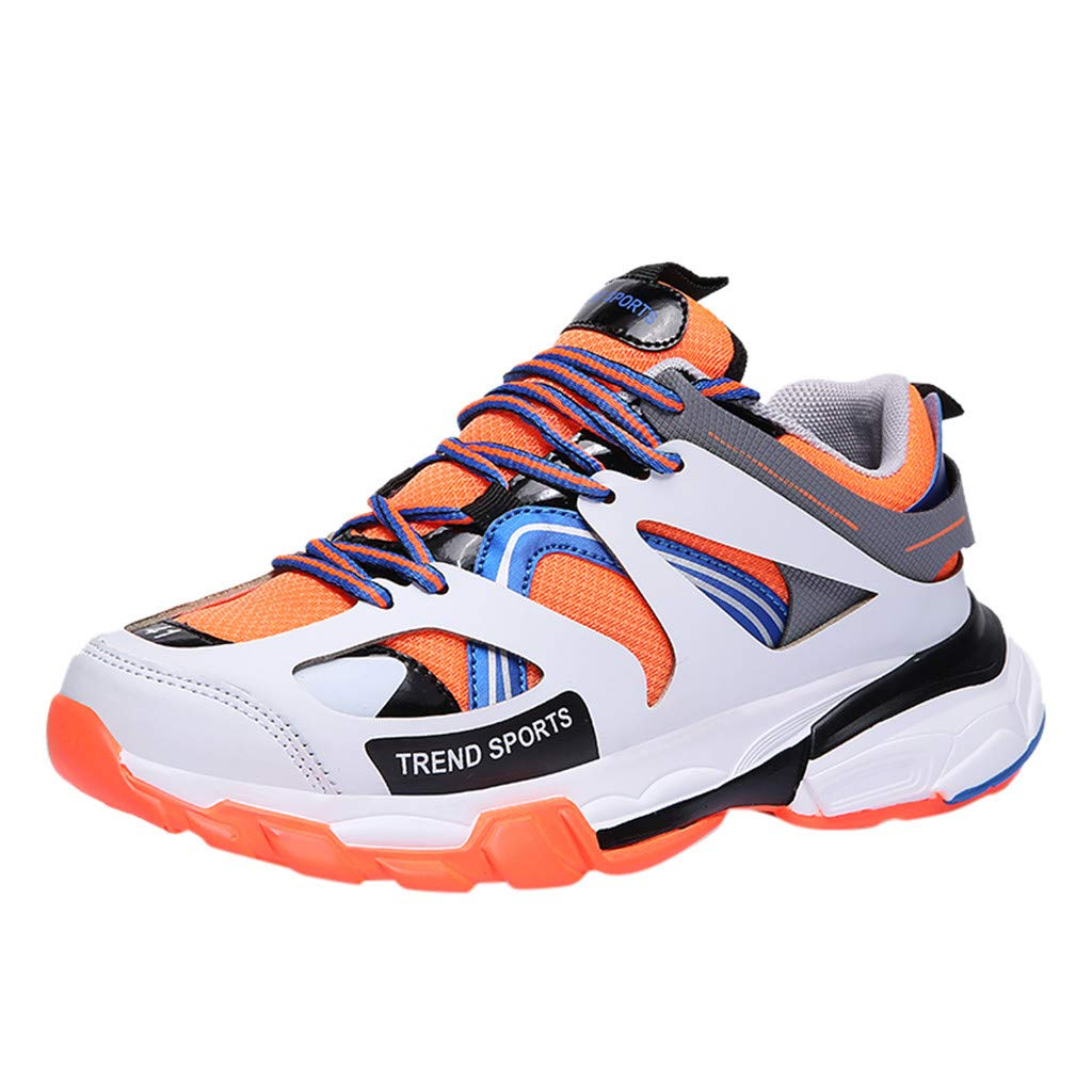 Men's Casual Walking Sneakers - Fashion Wild Lace-up Breathable Shockproof Running Shoes Athletic Shoes by Dacawin-Men Sneakers