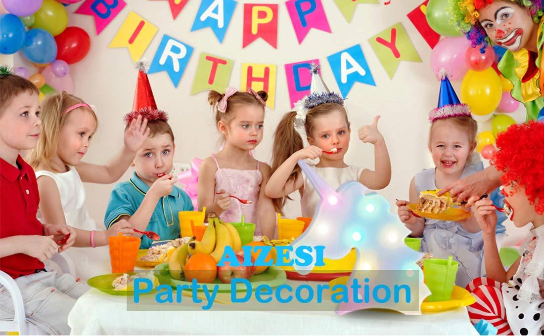 AIZESI Unicorn Marquee Light Night Light Wall Room Decor,Desk Table Lamp,Kids Gift for Birthday Xmas Colorful Unicorn… 6