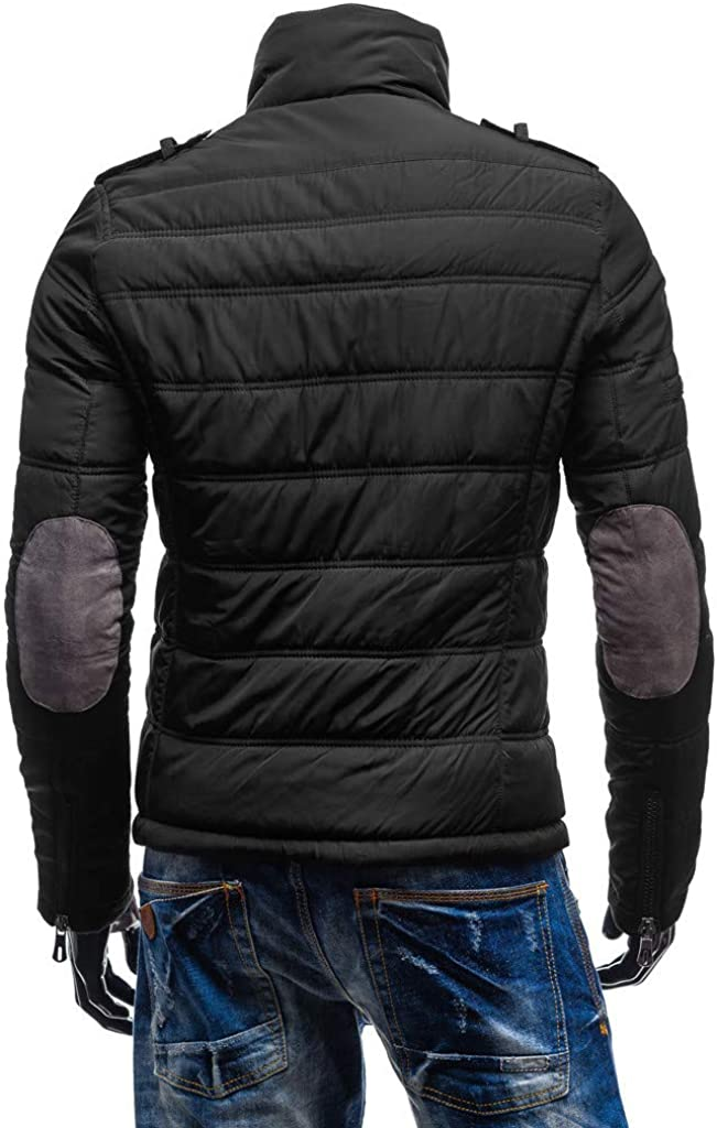 jin&Co Mens Winter Coats Big and Tall Plus Size Black Slim Outdoor Warm Coat Outwear