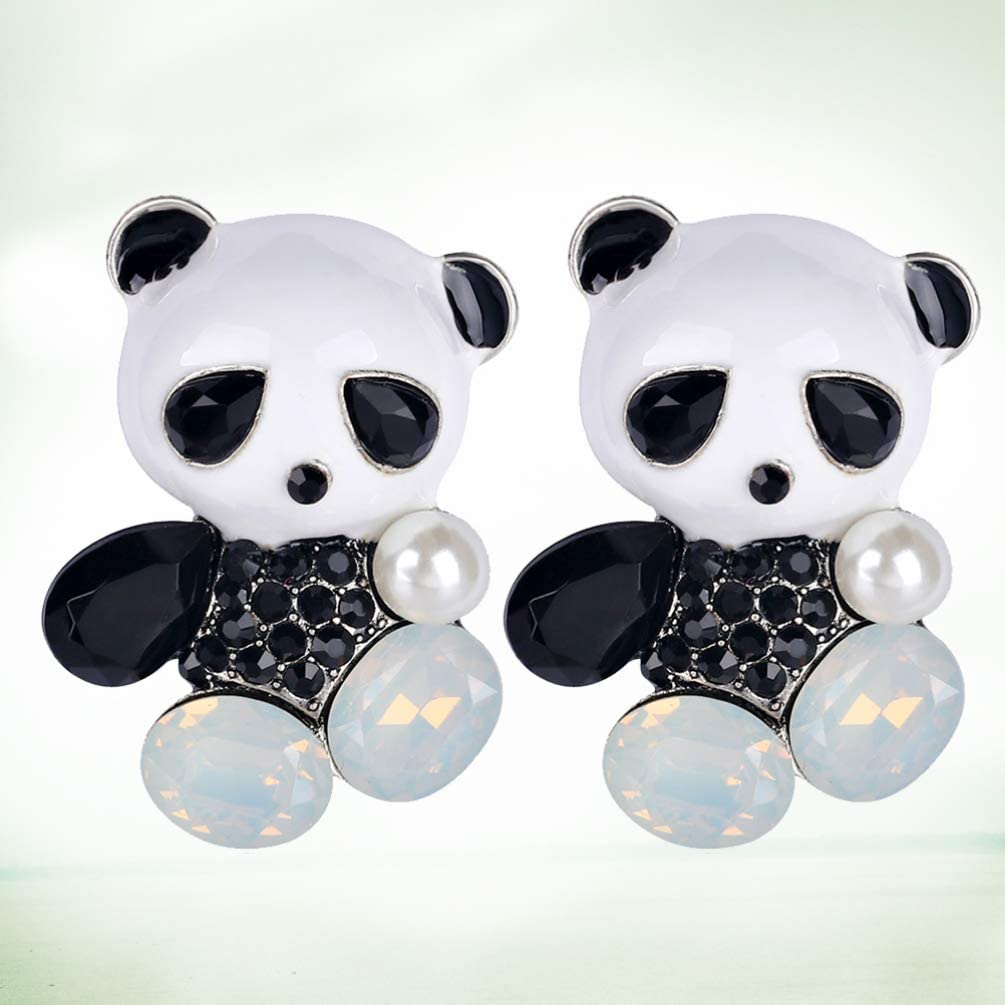 TENDYCOCO 2pcs Panda Brooches Pins Metal Cartoon Animal Brooches for Lady  Man Kids Brooches & Pins Jewellery
