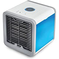 Yiwa Practical Air Cooler Electric Fan Mini Air Conditioner Humidifier Air Cleaner Night Light Home Office Appliance