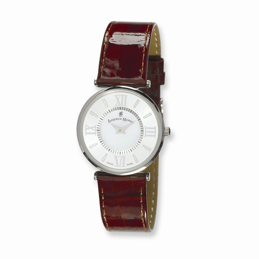 Perfect Jewelry Gift Ladies Jacques du Manoir Brown Strap Watch