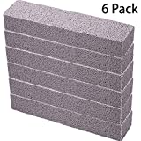 6 Pieces Pumice Sticks Pumice Scouring Pad for Cleaning, Grey Pumice Stick Cleaner for Removing Toilet Bowl Ring, Bath, Household, Kitchen, Spa, Pool, Household Cleaning, 5.9 x 1.4 x 0.9 Inch