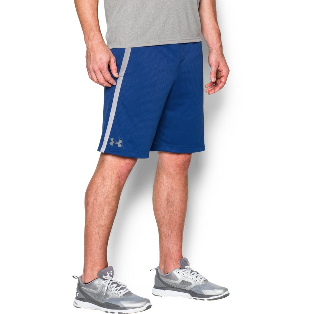Under Armour Men's Tech Mesh Shorts, Royal (400)/Steel, Small