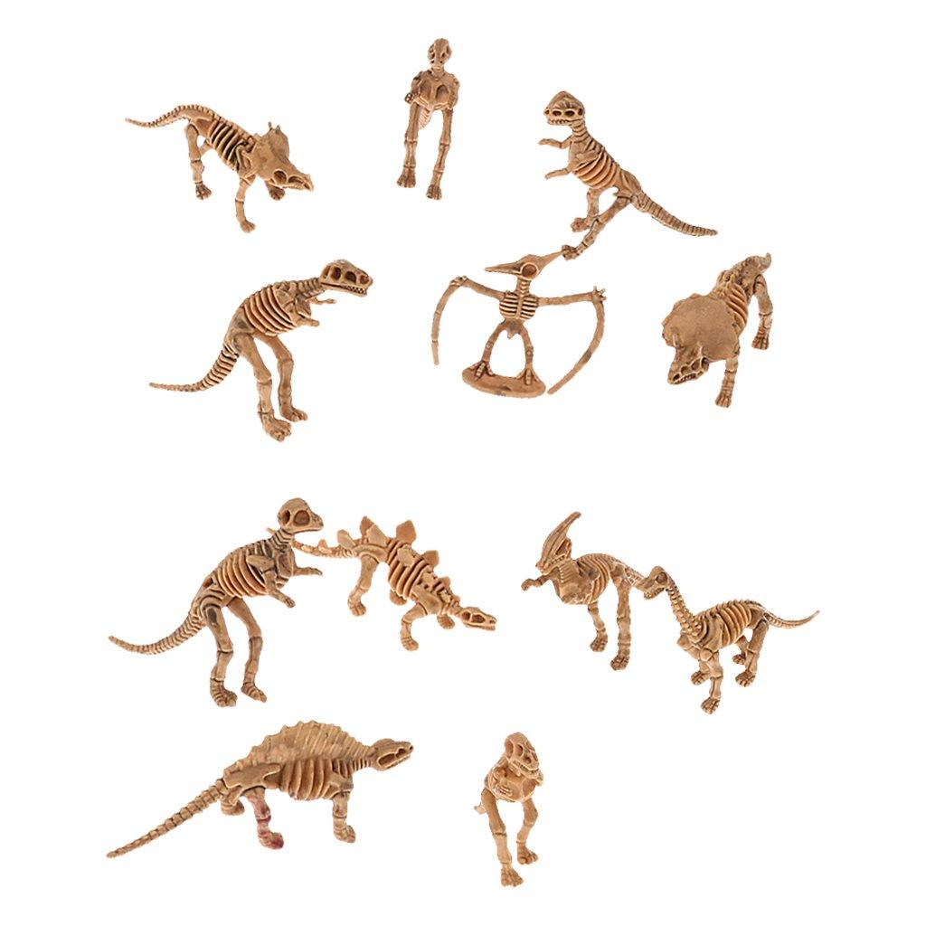 Neuheit Gemischt Dinosaurier Fossil Skelett Figuren 12 Stück Generic
