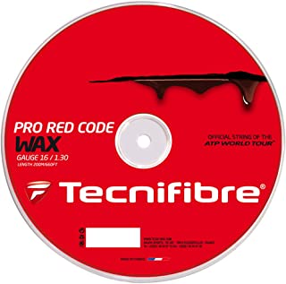 Tecnifibre Uni Tennis TF PRO redcode Wax 1.30mm, 200m Rotolo di Corda, Rosso, M 200m Rotolo di Corda TCNF5|#Tecnifibre 117902