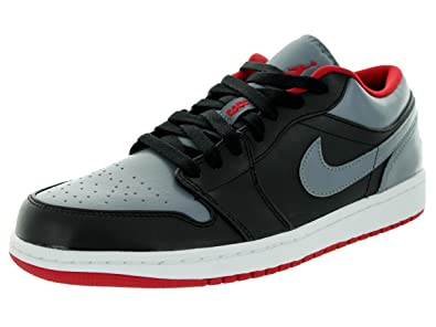 Image Unavailable. Image not available for. Color  Nike Jordan Men s Air  Jordan 1 Low Black Gym Red Cool ... b42d7d80e6
