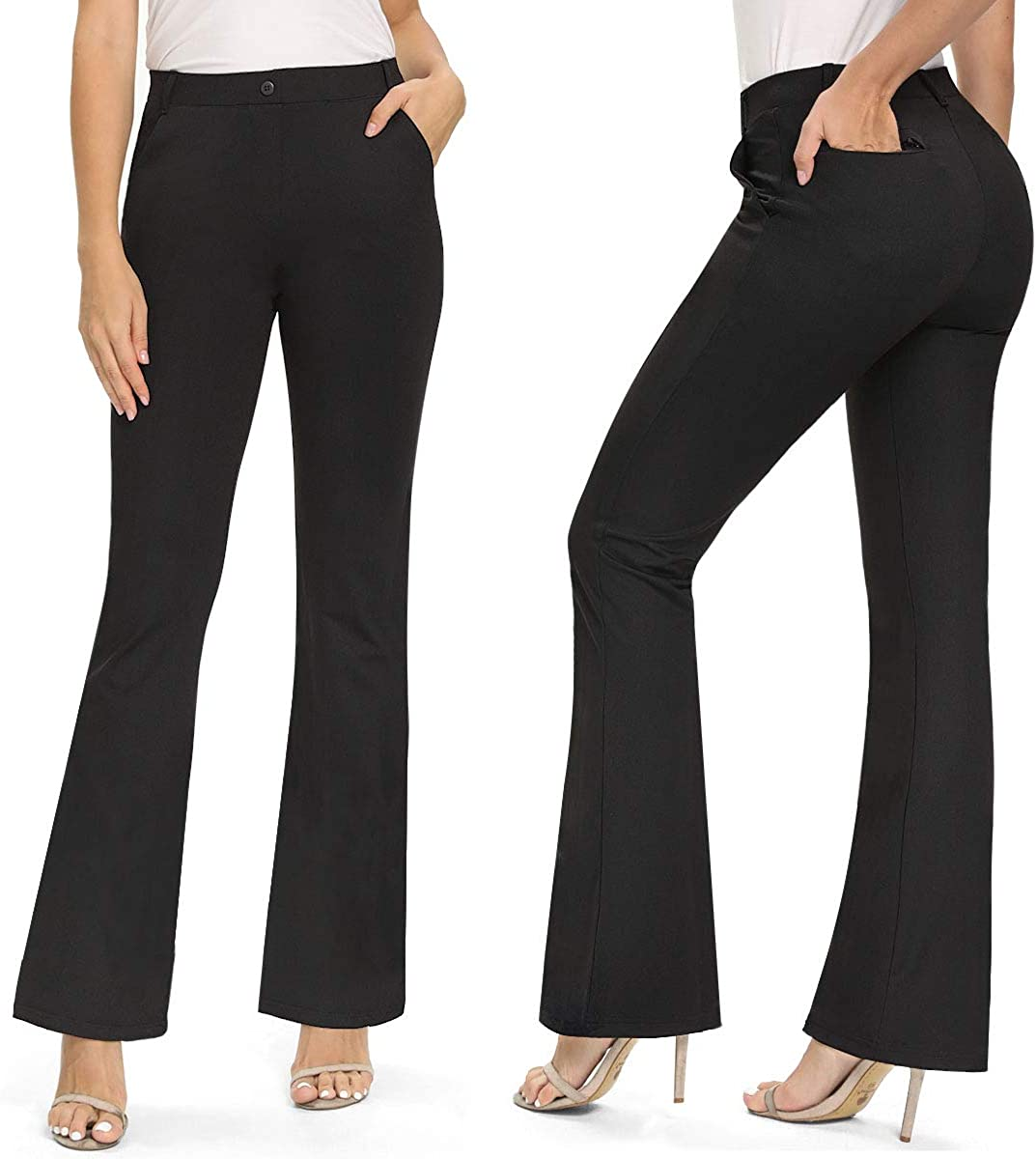 NICEWIN Womens Yoga shop Manufacturer OFFicial shop Dress Pants Flare Bootcut Bootleg