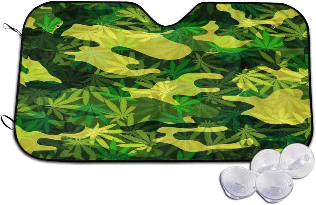 Parasol para Coche con diseño de Camuflaje de Marihuana, Color Verde Ver Imagen Medium