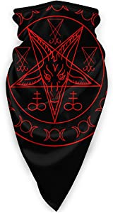 antoipyns Satanic Wiccan Symbols Goat Face Mask Bandana Men Women Coors Light Neck Gaiter for Dust, Outdoors, Festivals, Sports