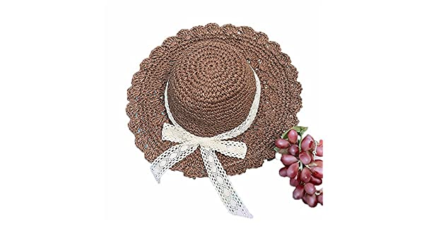 Amazon.com  Dig dog bone Women s Hat Bowknot Pure Color Spring Summer Straw  Hat Sunblock Sun Hat  Sports   Outdoors 7f68f9c137a9