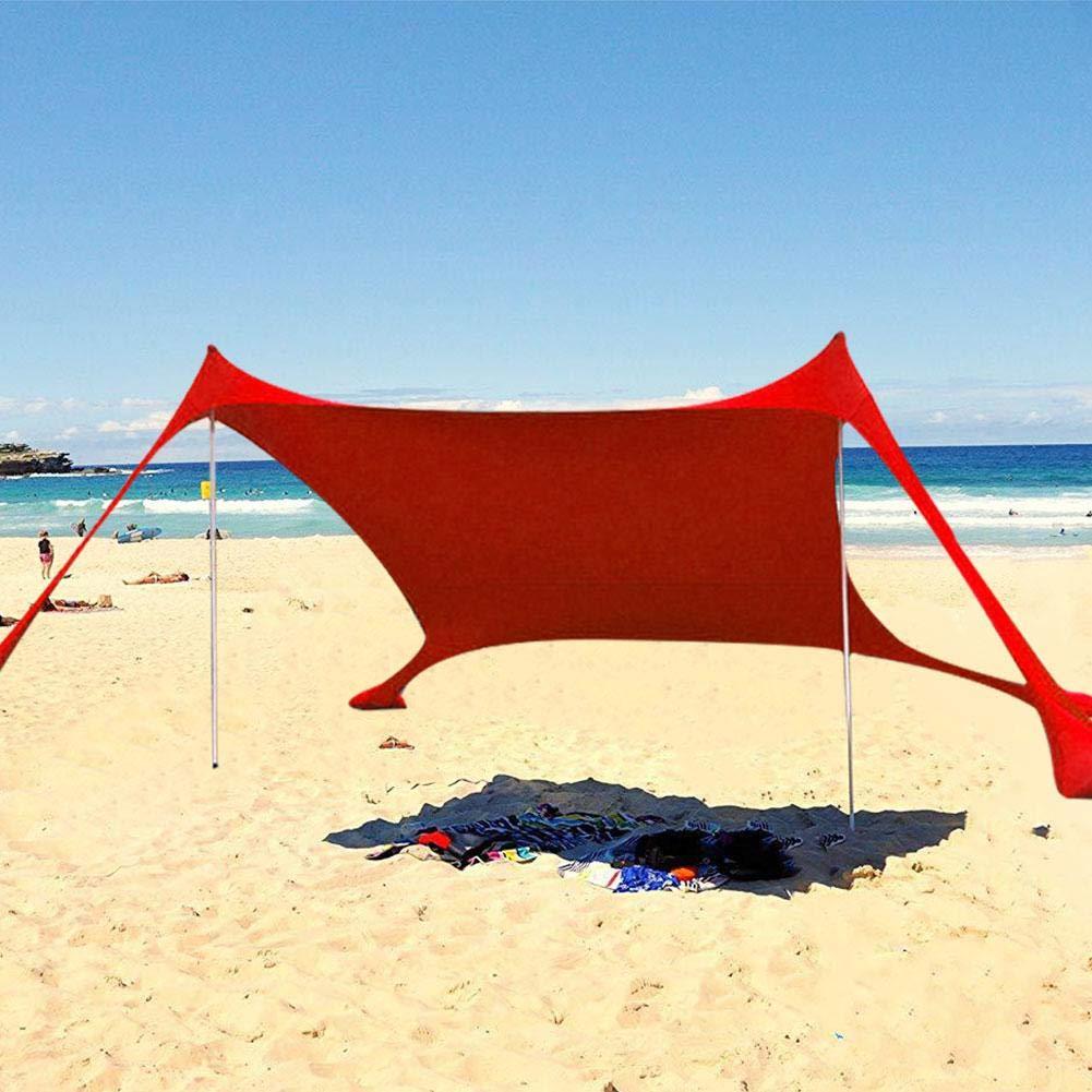 SunniY Toldo de Playa Tela de Lycra port/átil para Parque de Playa al Aire Libre