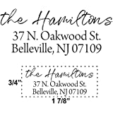 Custom Self Inking Address Stamp - Personalized Return Address Stamps - 8 Ink Colors Available - Hand Lettered Brush Script |