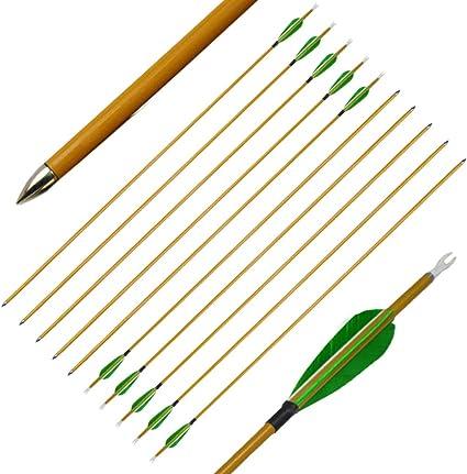 6PCs 31/'/' Archery Target Practice Fiberglass Arrows With Changeable Point
