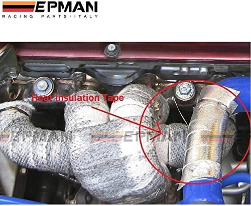 EPMAN Aluminum Reinforced Tape Adhesive Backed Heat Shield Resistant Wrap For All Intake pipe Suction Kit