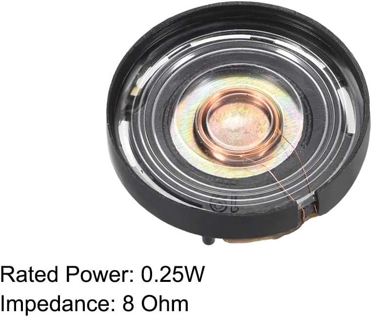 uxcell 0.25W 8 Ohm Audio Speaker Diameter 21mm Loudspeaker for Electronic Project 10pcs