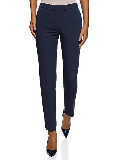 grossiste 1da59 59f2b oodji Collection Femme Pantalon Classique Slim Fit