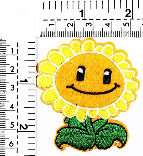 Plants sunflowers zombie devil green garden kids cartoon patch Applique for Clothes Great as happy birthday gift for $<!--$2.99-->