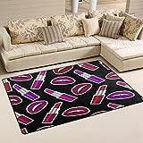 WOZO Colorful Women Lipstick Area Rug Rugs Non-Slip Floor Mat Doormats Living Room Bedroom 60 x 39 inches Review