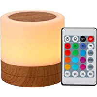 Luz noturna Leds de mesa coloridos luz noturna quarto cabeceira USB tocante RGB abajur com controle remoto