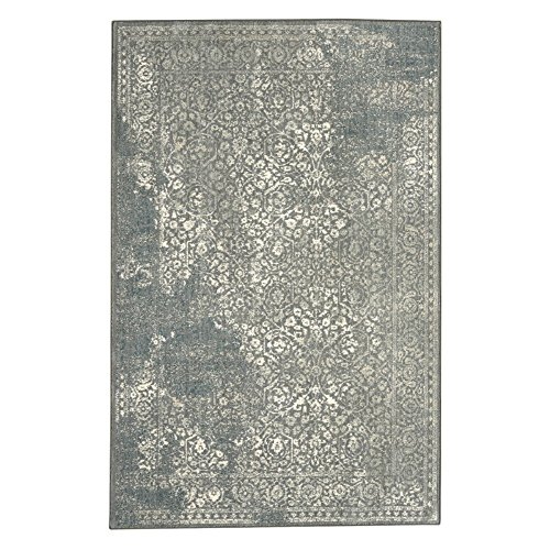 "picture of Karastan Euphoria Collection Ayr Rectangle Area Rug, 9'6"" x 12'11"", Willow Grey"