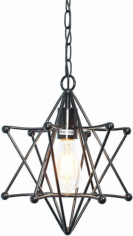 Pentagram Lampada Da Soffitto Lampadari Vintage Lampadario Moderno Soggiorno Camera Da Letto Lampade Da Soffitto Nero E27 Amazon It Illuminazione