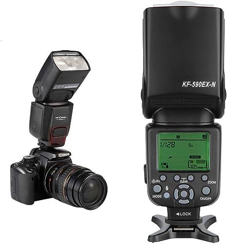 K F & KF-590 EX N TTL-Flash i-TTL luz Speedlite Disparador ...