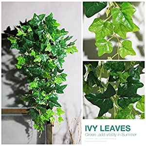 Luyue Fake Plants Artificial Vine Silk Ivy Garland Hanging Flowers for Home Wedding Decor 7