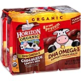 Horizon Organic DHA Omega-3 Lowfat Milk Chocolate 6 Count (Pack of 3)