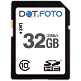 Dot.Foto - 32 Go Carte mémoire SDHC Classe 10 - 20Mo/sec pour Canon FS10, FS11, FS100