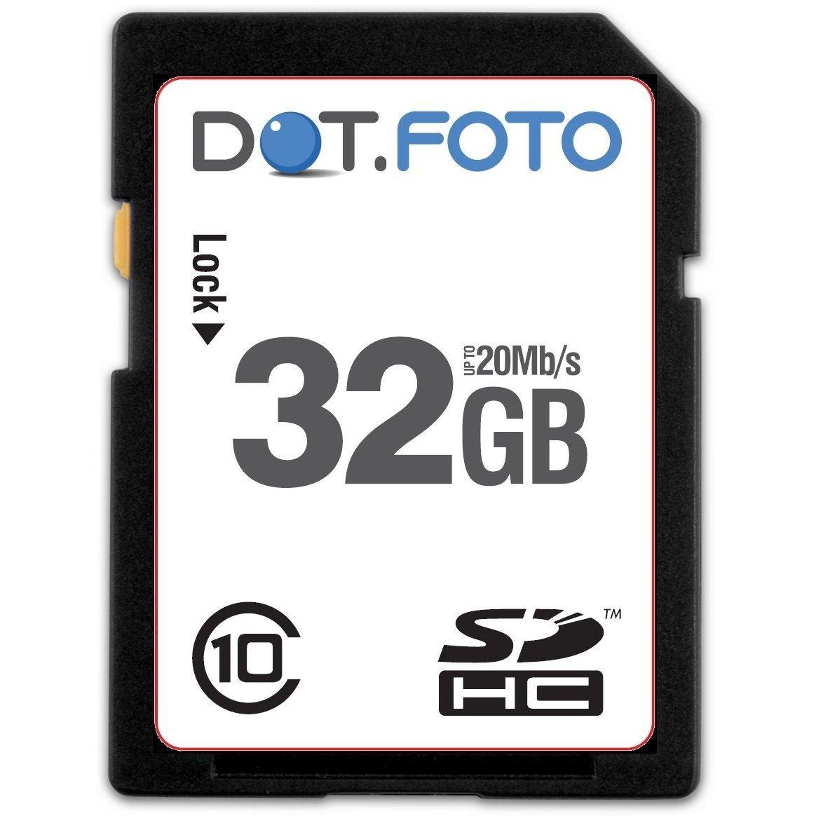 Dot.Foto - 32 Go Carte mémoire SDHC Classe 10 - 20Mo/sec pour Samsung NX Appareils photo [Pour la compatibilité voir la description] DOTSDH32G10DB