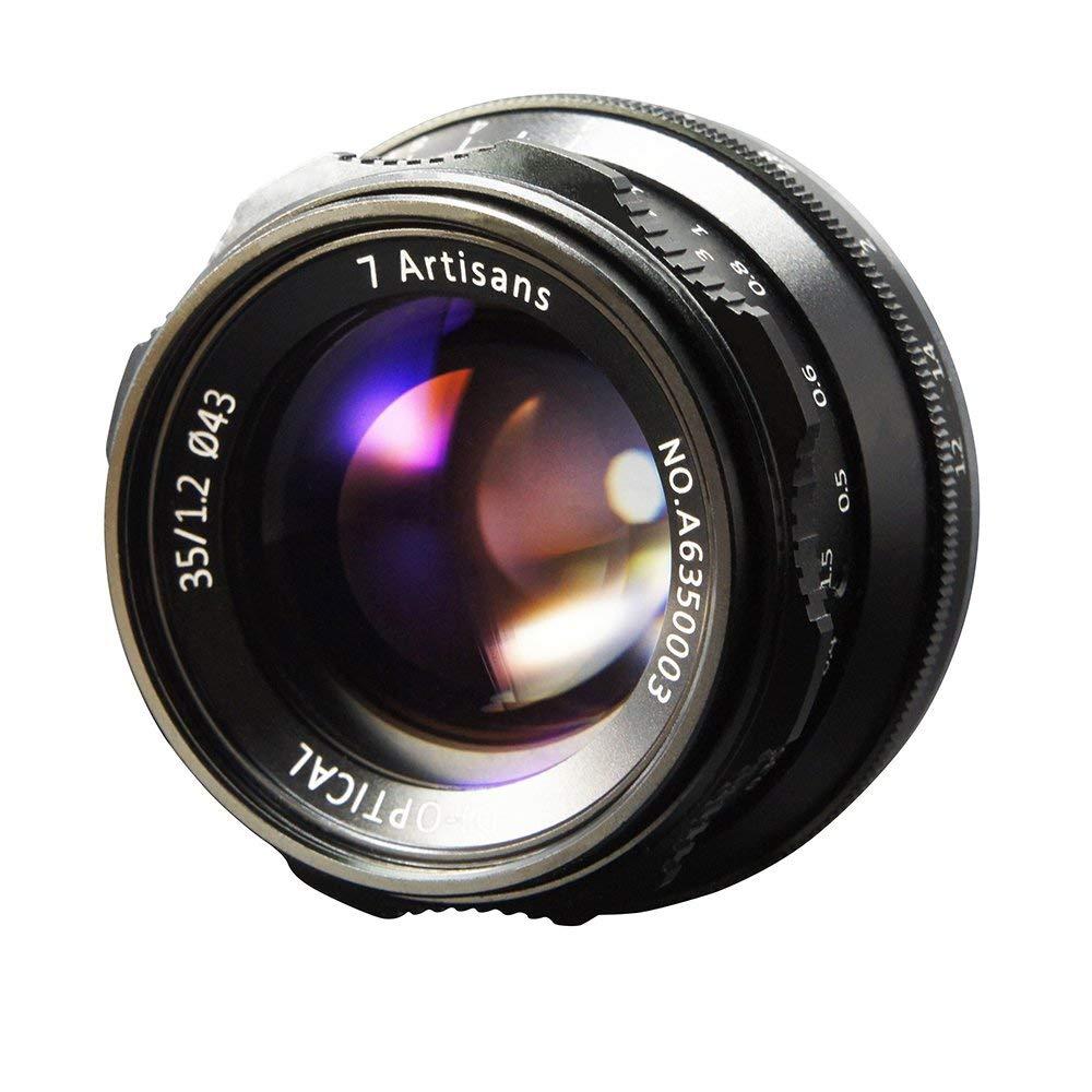 7artisans 35mm F1.2 マイクロカメラレンズ APS-C ソニー A6500 A6300 A6000 A5100 A5000 NEX-3 NEX-3N NEX-3R NEX-C3 NEX-F3K NEX-5K カメラ適用 (SONY E マウントカメラ対応) SONY E マウントカメラ対応  B07RHH6T5T