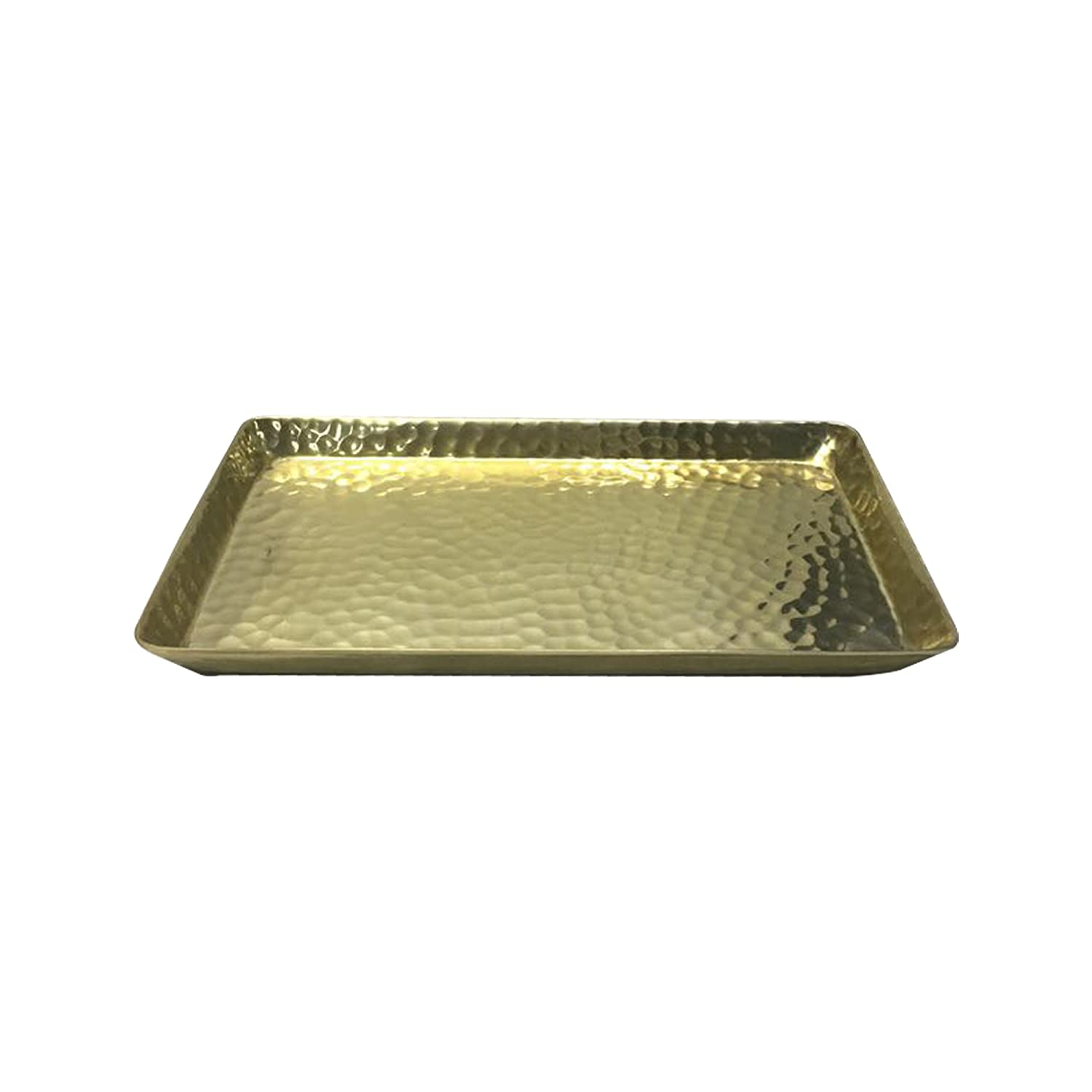nu steel Gold Hammered Vanity Tray Tatara Group HRT10SG
