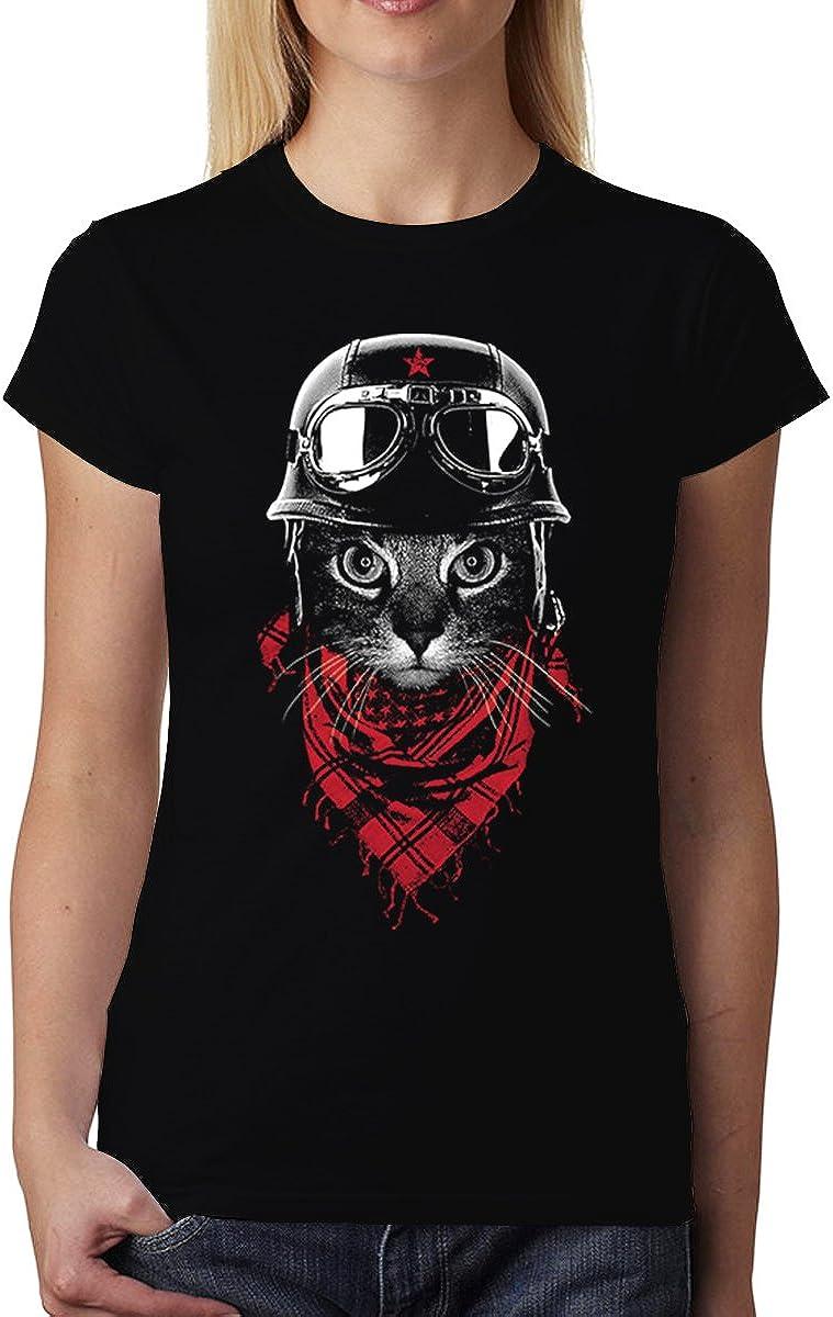 avocadoWEAR Gatto Motociclista Donna T-Shirt XS-3XL Nuovo