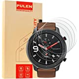 [4 Pack] PULEN Screen Protector Tempered Glass for Amazfit GTR 47mm,HD Clear Scratch Resistant Bubble Free Anti…