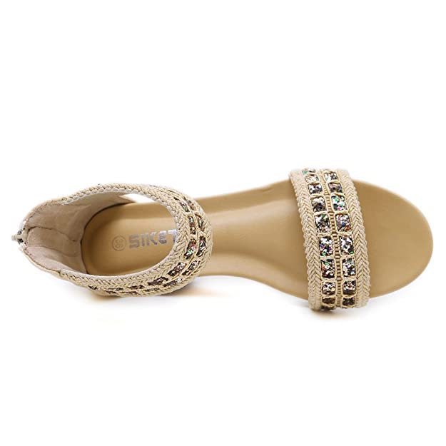 Kyle Walsh Pa Women Summer Bohemian Sandals Female Beach Travel Plus Size Soft Casual Comfort Slip On Flat Shoes