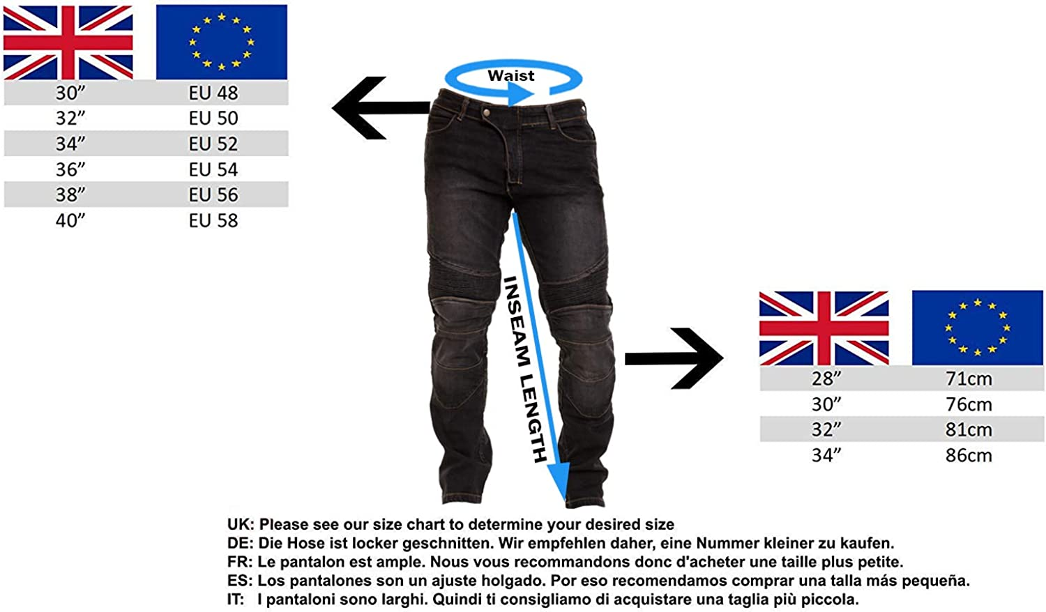 Qaswa Homme Moto Jeans Motards Pantalon Renforc/ée Aramide Protection Motorcycle Pants