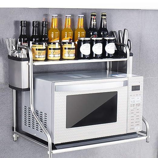 Kitchen storage rack Horno de microondas Parrilla de Pared Horno ...